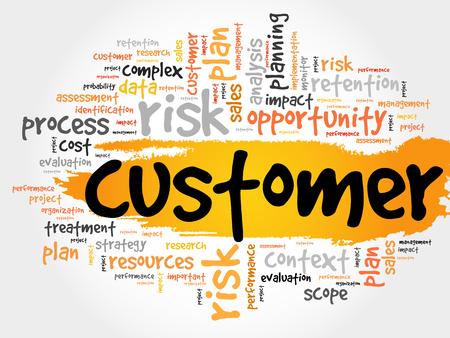 satisfied customer: Customer word cloud, business concept