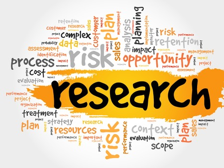 Investigación palabra nube, concepto de negocio