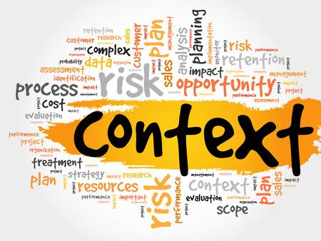 Context word cloud, business concept Vetores