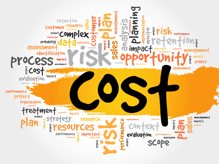 requirement: Word cloud of COST related items, presentation background