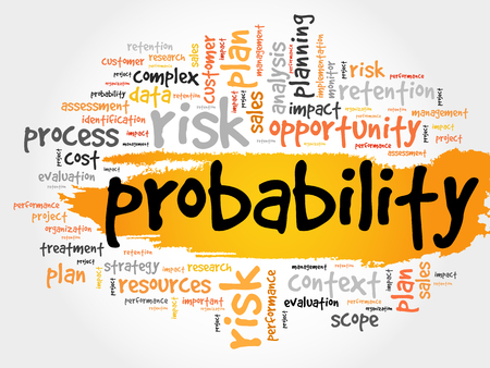 avoidance: Probability word cloud, business concept