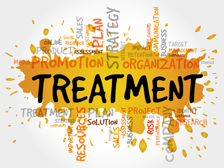 Word Cloud with Treatment related tags, business concept
