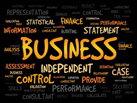business: BUSINESS word cloud, business concept