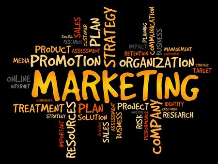 marketer: Marketing word cloud, business concept
