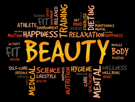beuty: BEAUTY word cloud, fitness, sport, health concept Illustration