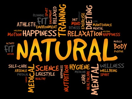 NATURAL woordwolk, fitness, sport, gezondheid concept