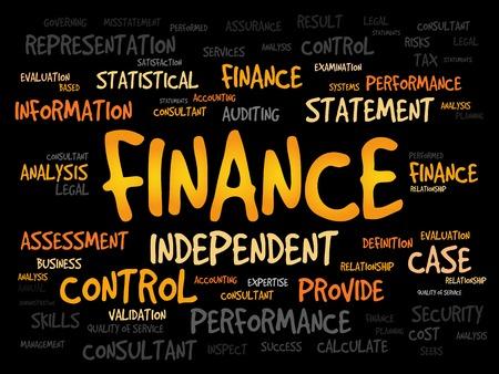 interst: FINANCE word cloud, business concept