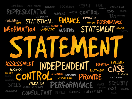 statement: STATEMENT word cloud, business concept