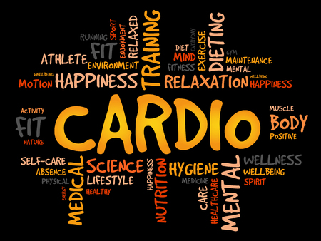 physique: CARDIO word cloud, fitness, sport, health concept Illustration