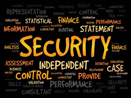 malicious software: SECURITY word cloud, business concept