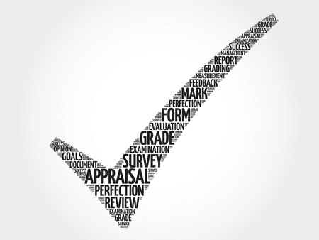 appraise: Appraisal check mark, business concept words cloud Illustration