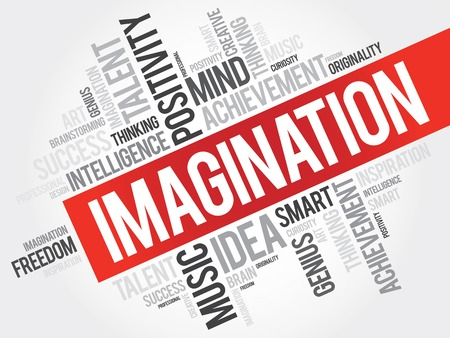 perceive: Imagination word cloud, business concept