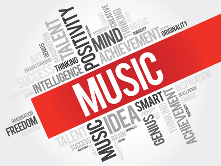 originality: Music word cloud, business concept Illustration
