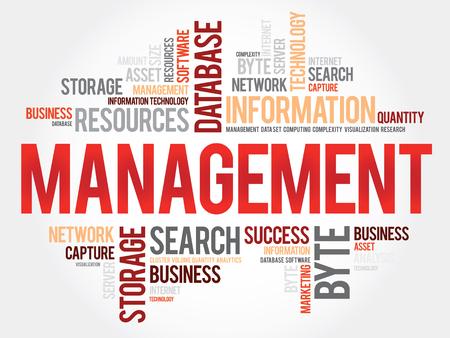 stakeholder: Management word cloud, business concept Illustration