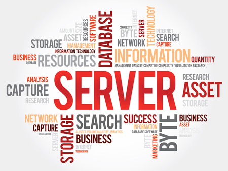 mass storage: Server word cloud, business concept