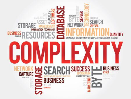 complexity: Complexity word cloud, business concept Illustration