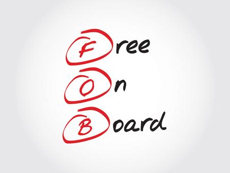 FOB - frei an Bord, Akronym Geschäftskonzept