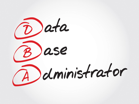 replication: DBA - Database Administrator, acronym business concept Illustration