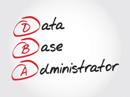 DBA - Administrateur de base de données, le concept acronyme d'affaires