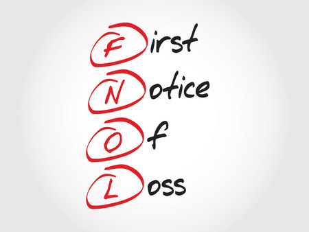 discernment: FNOL - First Notice Of Loss, acronym business concept