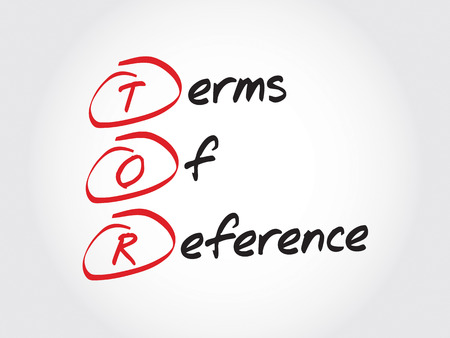 reference: TOR - Terms of Reference, acronym business concept Illustration