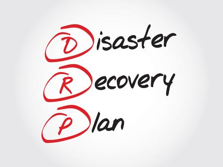 DRP - Disaster Recovery Plan, le concept acronyme d'affaires Vecteurs