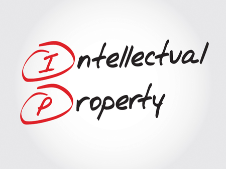 intellectual: IP - Intellectual Property, acronym business concept Illustration