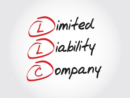 limited liability company: LLC - Limited Liability Company, acronym business concept