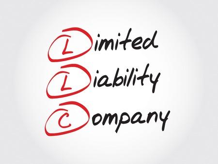 LLC - société à responsabilité limitée, le concept acronyme d'affaires