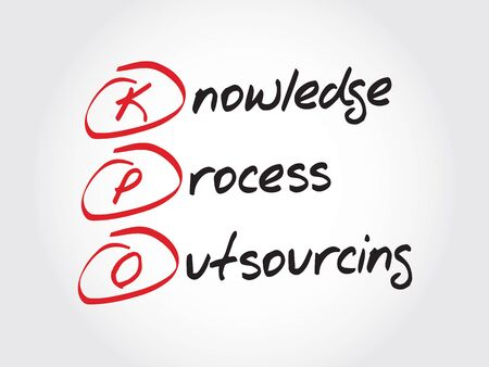 knowledge business: KPO - Knowledge Process Outsourcing, acronym business concept