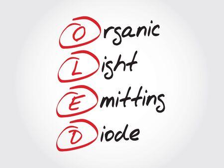 diode: OLED Organic Light-Emitting Diode, acronym concept