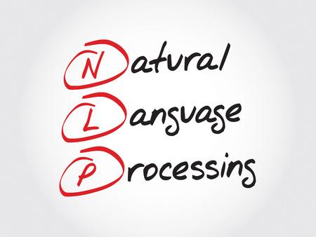 NLP Natural Language Processing, acronym business concept