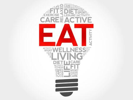increase fruit: EAT bulb word cloud, health concept Illustration