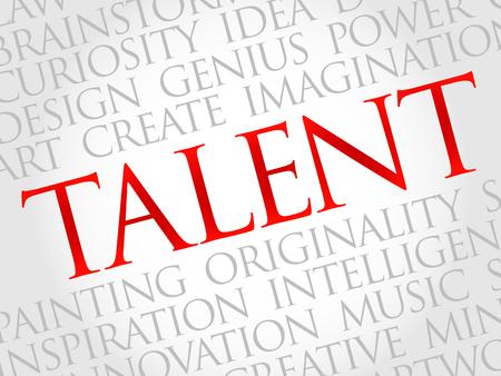 marketer: Talent word cloud, business concept