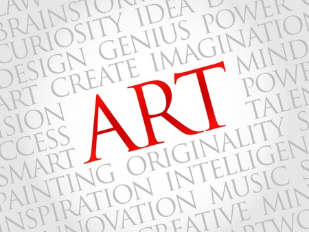 webdesigner: Art word cloud, business concept Illustration