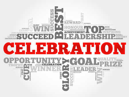 wingding: Celebration word cloud, business concept