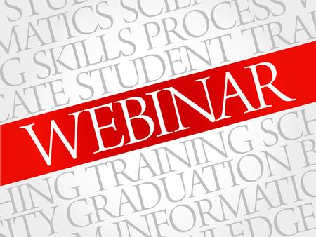 webcast: WEBINAR word cloud, education business concept
