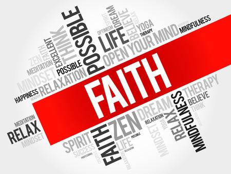 SELF HEALING: Faith word cloud concept