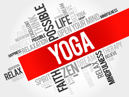 inner beauty: Yoga word cloud concept Illustration