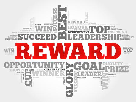 Reward word cloud, business concept Vektorové ilustrace