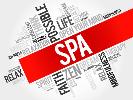 spa collage: Spa word cloud concept