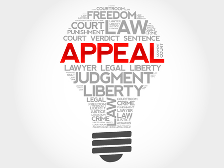 appellate: Appeal bulb word cloud concept