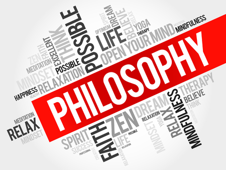 philosophy: Philosophy word cloud concept