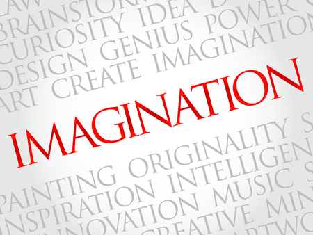 Wyobraźnia chmura słowo, pomysł na biznes