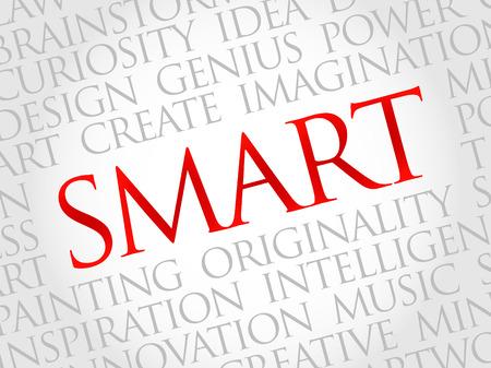 textcloud: Smart word cloud, business concept Illustration
