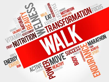 regiment: WALK word cloud, fitness, sport, health concept