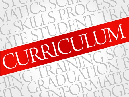 extramural: CURRICULUM word cloud, education business concept