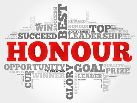 honour: Honour word cloud concept