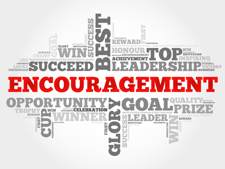 Encouragement word cloud, business concept Ilustração Vetorial