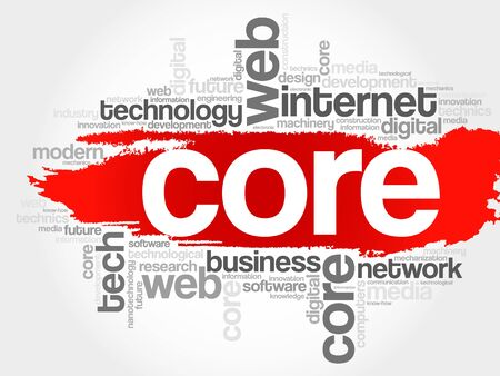 core: Core word cloud, business concept Illustration